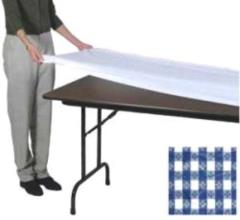 Rental store for Fitted Table Cover 30 x96  Blue White in Aberdeen OH